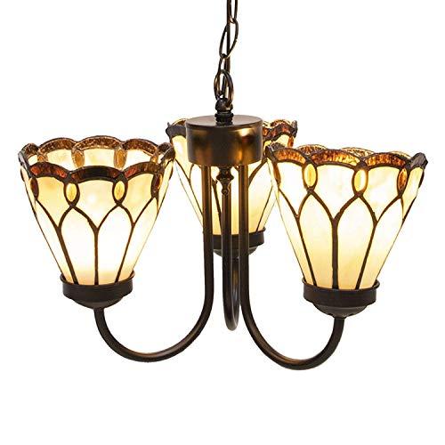 Lumilamp 5LL-5996 Lámpara de techo Tiffany aprox. Ø 39 x 125 cm