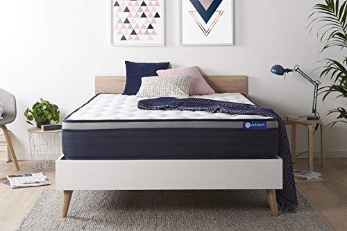 Materasso Actilatex max 160x190cm, Spessore : 26 cm, Lattice e memory foam, Rigido, 7 zone di comfort
