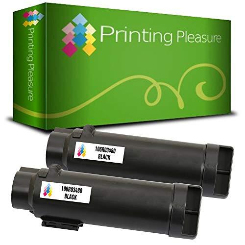 2er Set 106R03480 Schwarz Premium Toner kompatibel für Xerox Phaser 6510, 6510DN, 6510N, WorkCentre 6515, 6515DN, 6515DNI, 6515DNW, 6515N, 6515NW