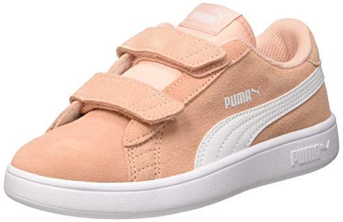 Puma Puma Smash v2 SD V PS, Unisex-Kinder Sneakers, Beige (Peach Bud-Puma White), 35 EU (2.5 UK)