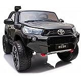 ATAA Toyota Hilux 850 24v biplaza - Negro- Coche eléctrico Todo Terreno para niños...