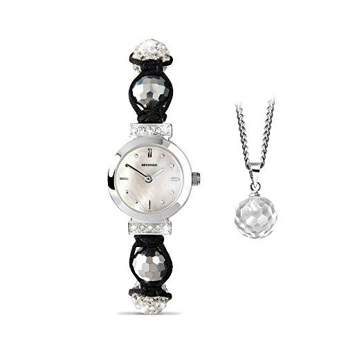 Crystalla by Sekonda 4061G - Set regalo con bracciale e collana