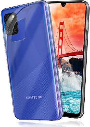 moex Aero Hülle kompatibel mit Samsung Galaxy A31 - Hülle aus Silikon, komplett transparent, Klarsicht Handy Schutzhülle Ultra dünn, Handyhülle durchsichtig einfarbig, Klar