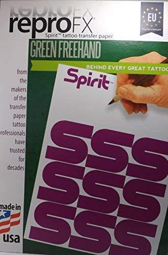 TATTOO Matritzenpapier EU Spirit Green 10Stück - INKgrafiX® Deutschland - PROFI STUDIO IG04802 Stempel Papier Abdruck