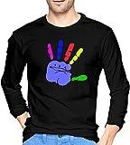 Hypercolor sudadera moda algodón hombres manga larga camisetas negro