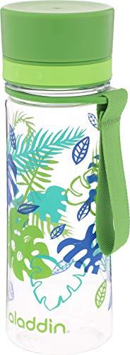 Aladdin AVEO Trinkflasche aus Tritan-Kunststoff, 0.6 Liter, Fern, Auslaufsicher, Durchsichtig, Wasserflasche Fahrradflasche