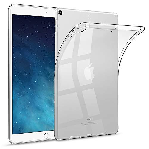 HBorna Coque pour iPad Air 2013, Ultra Mince Transparent Étui en TPU Souple Étui Arrière Protection Coque pour Apple iPad Air 1 (Modèles A1474 / A1475 / A1476), Transparent