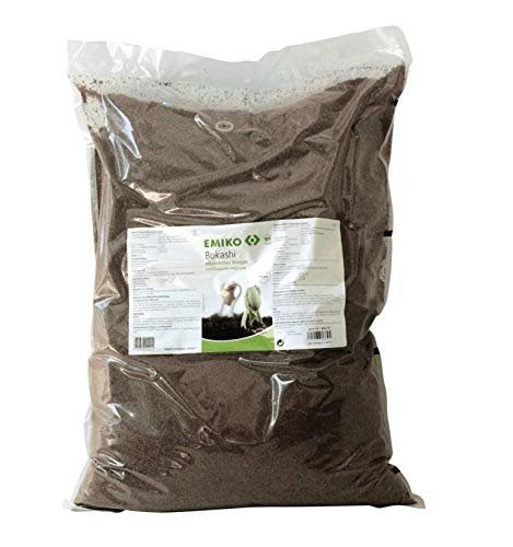 Bokashi pflanzlicher Dünger 8kg, organischer Allround-Langzeitdünger mit EM für den Garten, der Humusaufbau, aktives Bodenleben und Vitale Pflanzen fördert (8)