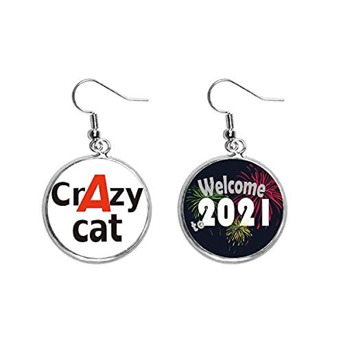 Breve mejor gato loco oído colgantes pendiente joyería 2021 bendición