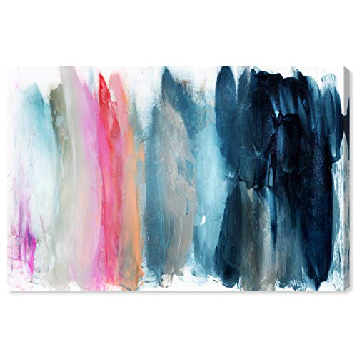 """The Oliver Gal Artist Co. Abstract Wall Art Canvas Prints 'Parque del Retiro' Home Décor, 45"""" x 30"""", Blue, Pink"""