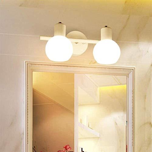 ZSMLB Espejo baño LED, luz Frontal Hierro Forjado, tocador ángulo Ajustable Simple, lámpara Pared gabinete con Espejo tocador montado en la Pared