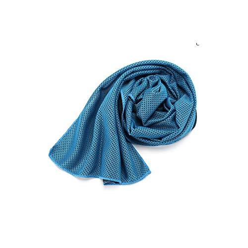 Green HX Ideal Hot Serviette De Sport De Glace De Refroidissement Enduring Instant Chilly Towel Summer Beach Towel Quick-Dry Face Towel for Outdoor Gym Yoga Climbing-Light Blue-