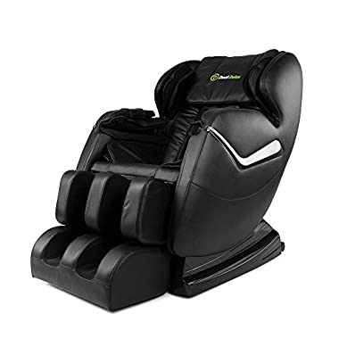 Real Relax Massage Chair Recliner, Electric Zero Gravity Full Body Shiatsu Chair with Heat and Foot Rollers (Black)
