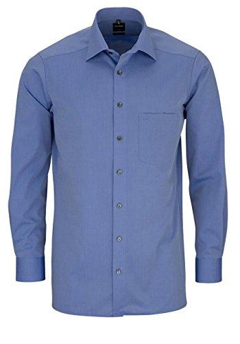 OLYMP Luxor Herren Hemd / Modern Fit / Langarm- Gr. 42, Mittelblau
