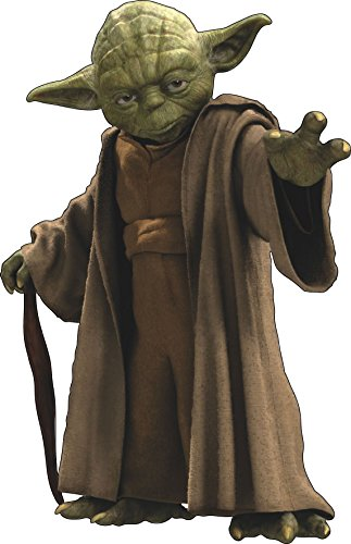 Sticker Yoda Star Wars Ref 15056, Hauteur 40cm