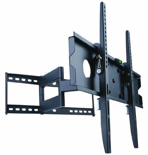Mount-It! Swivel TV Wall Mount Full Motion for Flat Screens, 32 35 40 45 50 55 60 65 Inch LCD/LED/Plasma Screen TV, VESA 600x400mm, 110 Lb Weight Capacity, Black