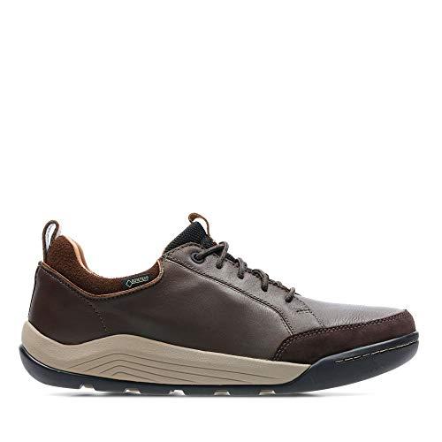 Clarks Ashcombebaygtx, Zapatos de Cordones Derby para Hombre, Marrón (Dark Brown Lea), 42 EU