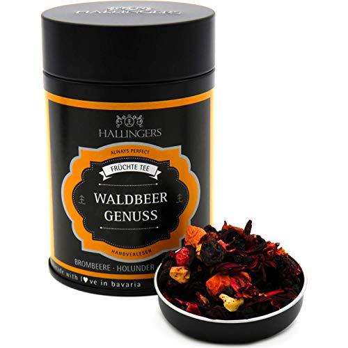 Hallingers Loser Früchte-Tee mit Brombeere, Holunder & Erdbere (110g) - Waldbeergenuss (Premiumdose) - zu Passt immer ideal als Geschenk