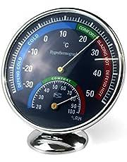 Ytian Fuktighetsmätare för temperatur inomhus utomhus hygrometer termometer analog bildskärm babyrum växthus