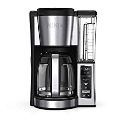 Image of Ninja CE251 Programmable Brewer, with 12-cup Glass Carafe, Black and Stainless Steel Finish: Bestviewsreviews
