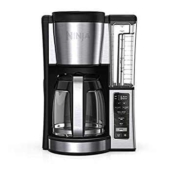 Ninja CE251 Programmable Brewer with 12-cup Glass Carafe Black and Stainless Steel Finish