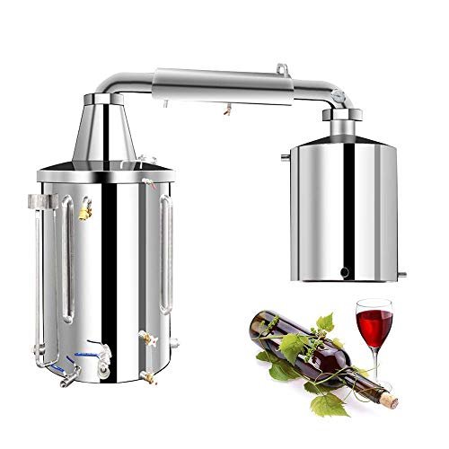 Kit para Destilación Casera Alcohol Casero Moonshine Still para Whisky Brandy Vodka Aceite Esencial Producción de Vino Acero Inoxidable