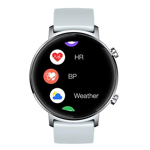 APCHY Reloj Inteligente Smartwatch,Rastreadores De Actividad De Pantalla De Alta Definición De Círculo Completo De 1.3 Pulgadas,Batería Grande De 180 Mah,Salud Femenina,Recordatorio De Calculadora,C
