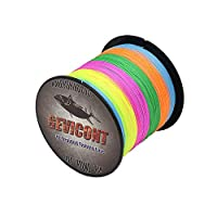 GEVICONT Braid Line Thinner Diameter Fishing String Weaves PE 8X Strands 300 M/328 Yd 500 M/547 Yd 1000 M/1094 Yd 10lb to 300lb Multiple Colors for deep sea Fishing