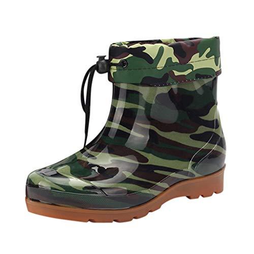 Plot Unisex Regenstiefel Gummistiefel Damen Herren Tarnung Ankle Boots Kurzschaft Stiefel Stiefeletten Outdoor Wasserdicht Chelsea Rain Boot Regenschuhe