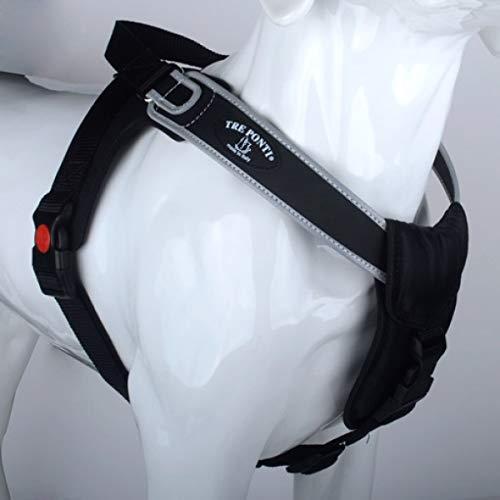 Tre Ponti Harnais Potenza avec bord réfléchissant Noir 50-65 cm Charge max. 10-20 kg