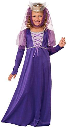 Forum Novelties Renaissance Queen Child Costume, Large , Purple