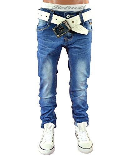 H1395 Coole Jeans Hose Junge Kinder Stretch CHILONG 122-176 (134-140)
