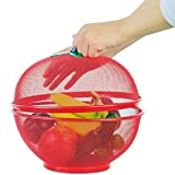 YYZZ Fruit basket, grid fruit basket, iron fruit plate with lid, kitchen dishwashing drain basket, household table decoration | storage basket.