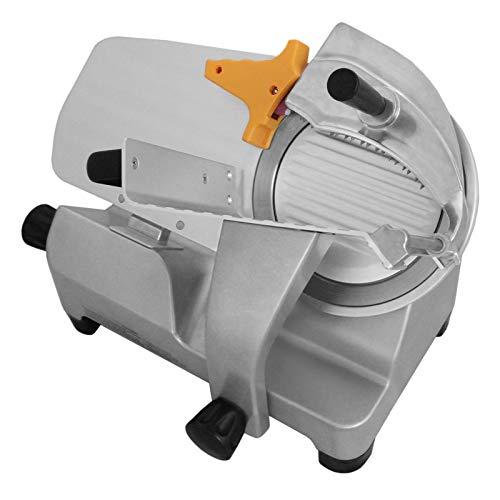 Aufschnittmaschine mit 30cm Messer, Schnittstärke 1-25 mm, Schrägschneider mit Schnittguthalter, Schubhilfe und integrierter Schärfevorrichtung kommerzieller Allesschneider 300mm