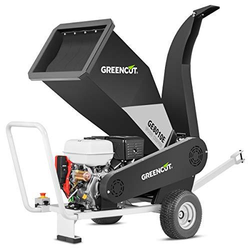 GREENCUT GE210XE - Biotrituradora de gasolina 458cc y 21cv para ramas Trituradora de ramas, hojas y restos de poda para jardinero
