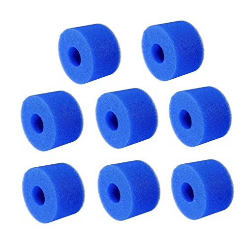 ASDZXC - Cartucho de filtro de esponja para Intex Tipo H, filtro de esponja para piscina, reutilizable y lavable, para sustitución de limpieza Intex Tipo H (lote de 8)