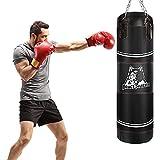 Brace Master Bolsa de boxeo para boxeo y artes marciales mixtas, kickboxing, entrenamiento para hombres y mujeres (bolsa pesada negra)