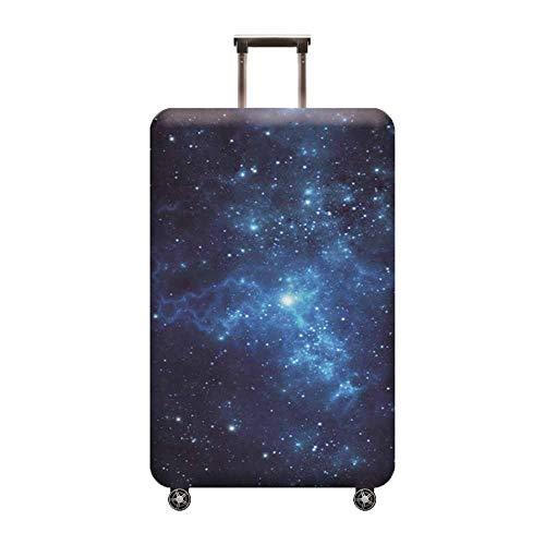 Hibasing Koffer Abdeckung Großer Koffer Schutz Abdeckung Weltraum Serie Mond So Erde Nebel Druck