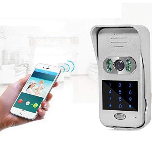AKAKKSKY Kit de Timbre Digital con cámara s para Puerta Videoportero, RFID, PoE, Conexión inalámbrica, Función de Apertura de Puertas, Visión Nocturna, Aplicación móvil