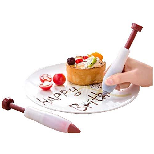Allegorly Tortenspritze Silikon,Silikon Dekorationsstift,Kuchen Dekorationsstift,Geeignet zum Schreiben und Dekorieren von Lebensmittel Cake Food Writing Pen Backenwerkzeuge