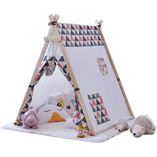 YDHWY Sturdy Baby Game Tent, Indoor Toddler Play Tent with Large Space, Princess Castle with Wooden Frame for Boys And Girls Perfect Kid's Gift