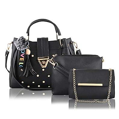 Le Platinum PU Leather Latest Trendy Fashion Ladies Handbag With Sling Bag & Clutch Combo 3pcs Purse Set