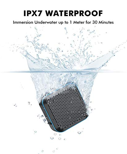 LEZII IPX7 Waterproof Shower Bluetooth Speaker 12H Playtime Loud HD Sound Hook for Home Pool Beach Bicycle Boating Bag Hiking Support TF Card Aux-in FM Radio Portable Wireless Outdoor Speaker