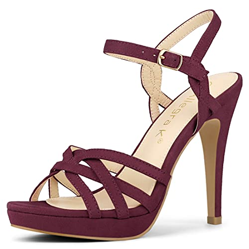 allegra k stilettos Allegra K Women's Strappy Platform Heels Stiletto Heel Sandals