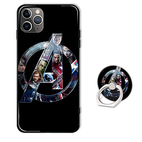 GZYHPM Compatible with iPhone 12 Pro Max Case Anime Comic Series Protection Cover with Ring Holder Kickstand, Soft TPU Rubber Silicone Protective Avengers Cover for iPhone 12 Pro Max (6.7 inch).