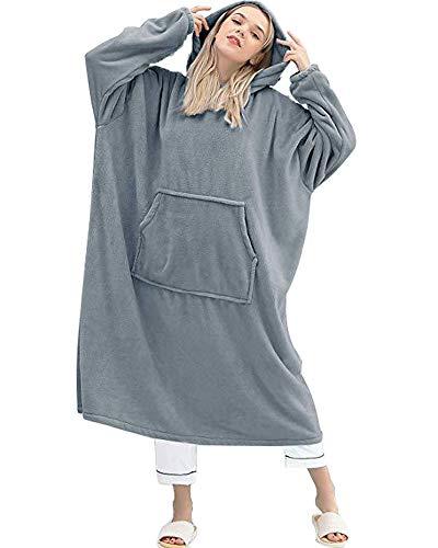 Godoboo Kapuzenpullover, Übergroße Hoodie Sweatshirt Decke Weiche Warme Riesen Hoodie Fronttasche Giant Plüsch Pullover Decke mit Kapuze for Frauen Men