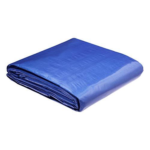 AmazonCommercial - Telo impermeabile multiuso in poliestere 6 x 9 metri, 0,127 mm di spessore, colore blu, confezione da 2