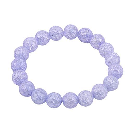Winwinfly Chakra Armbänder/Dehnbar Armband - Heilung, psychische Energie, Gesundheit, Wellness, Frieden,Lila