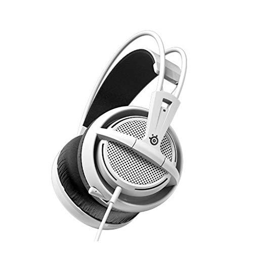HUANGDA HDG200, Casque de Jeu, Microphone rétractable, Gestion de Logiciel, (PC/Mac / Playstation/Mobile) - Noir (Color : White)