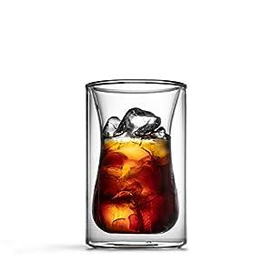 ガラス二重層 ダブルコーヒーカップグラスマークカップコーヒーポット、単一の製品アイスドロップコーヒーカップ手作り コーヒーカップマグ (色 : Clear, Size : 11x6.8cm)
